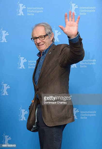 Director Ken Loach attends the Honorary Golden Bear To Ken Loach Photocall during 64th Berlinale International Film Festival at Berlinale Palast on...