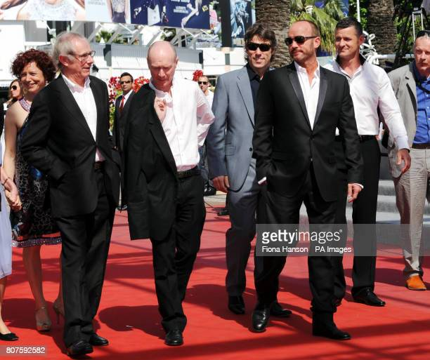 Director Ken Loach screenwriter Paul Laverty actor John Bishop actor Mark Womack and Trevor Williams attend the premiere of Route Irish during the...