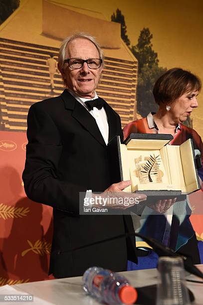 "Director Ken Loach who won The Palme d'Or for the movie ""IDaniel Blake"" attends the Palme D'Or Winner Press Conference during the 69th annual Cannes..."