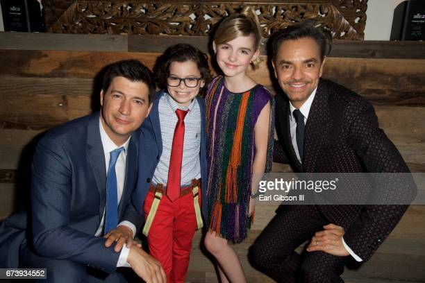Director Ken Marino actor Raphael Alejandro actress McKenna Grace and actor Eugenio Derbez attend the Premiere Of Pantelion Films 'How To Be A Latin...