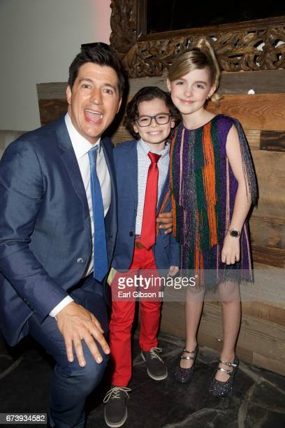 Director Ken Marino actor Raphael Alejandro and actor McKenna Grace attend the Premiere Of Pantelion Films 'How To Be A Latin Lover' on April 26 2017...