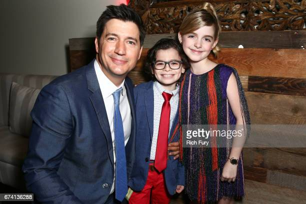 Director Ken Marino actors Raphael Alejandro and Mckenna Grace attend the premiere of 'How To Be A Latin Lover' on April 26 2017 in Los Angeles...