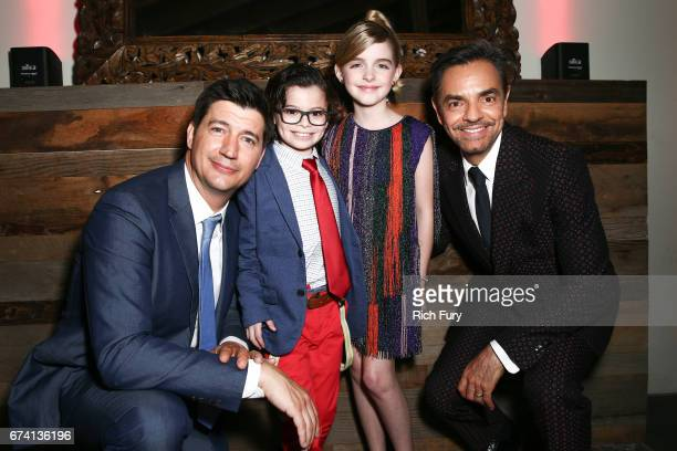 Director Ken Marino actors Raphael Alejandro Mckenna Grace and Eugenio Derbez attend the premiere of 'How To Be A Latin Lover' on April 26 2017 in...