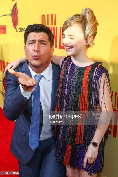 Director Ken Marino and actor Mckenna Grace attend the premiere of 'How To Be A Latin Lover' on April 26 2017 in Los Angeles California