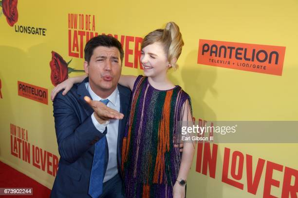 Director Ken Marino and actress McKenna Grace attend the Premiere Of Pantelion Films 'How To Be A Latin Lover' at ArcLight Cinemas Cinerama Dome on...
