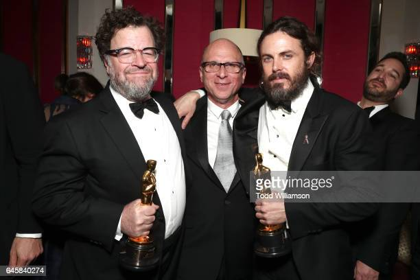Director Kenneth Lonergan producer Bob Berney and actor Casey Affleck with attend the Amazon Studios Oscar Celebration at Delilah on February 26 2017...