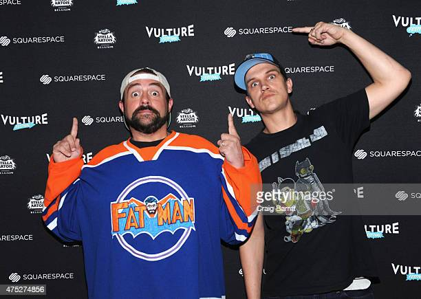 Director Kevin Smith and actor Jason Mewes attend the Vulture Festival at Milk Studios on May 30 2015 in New York City