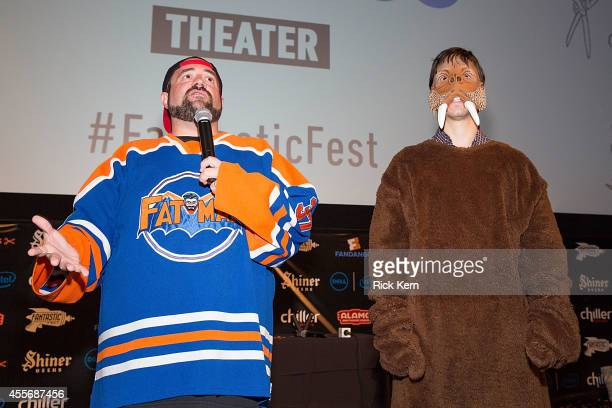 Director Kevin Smith and actor Justin Long attend the premiere of 'Tusk' during Fantastic Fest at the Alamo Drafthouse on September 18 2014 in Austin...