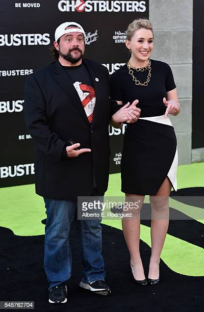 Director Kevin Smith and daughter Harley Quinn Smith arrive at the Premiere of Sony Pictures' 'Ghostbusters' at TCL Chinese Theatre on July 9 2016 in...