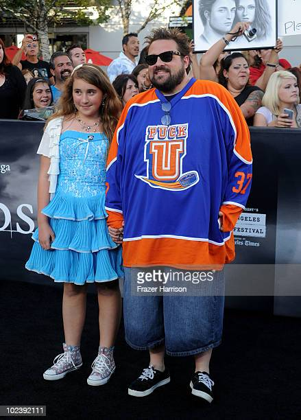 Director Kevin Smith and daughter Harley Quinn Smith arrives at the premiere of Summit Entertainment's 'The Twilight Saga Eclipse' during the 2010...