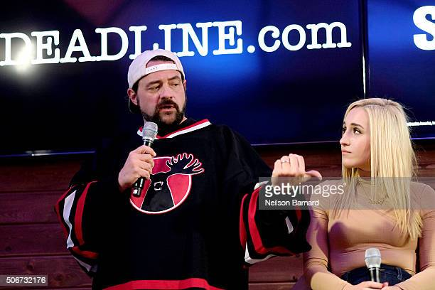 "Director Kevin Smith and Harley Quinn Smith discuss ""Yoga Hosers"" at the Deadlinecom panel at The Samsung Studio during The Sundance Festival 2016 on..."
