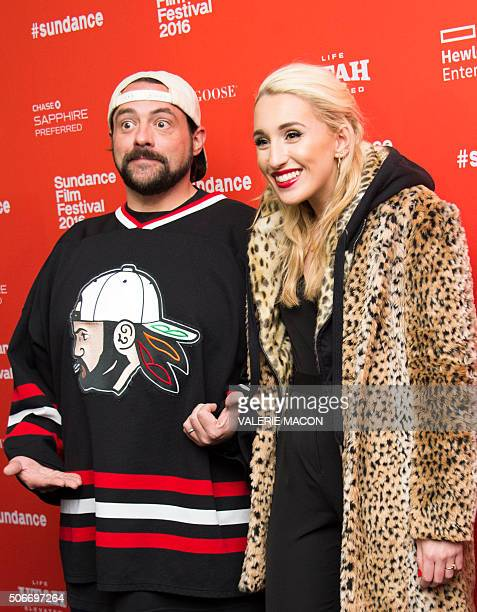 Director Kevin Smith and his daughter actress Harley Quinn Smith attend Yoga Hosers Premiere at Sundance Film Festival in Park City Utah January 24...