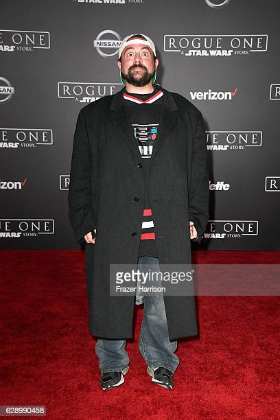 Director Kevin Smith attends the premiere of Walt Disney Pictures and Lucasfilm's 'Rogue One A Star Wars Story' at the Pantages Theatre on December...