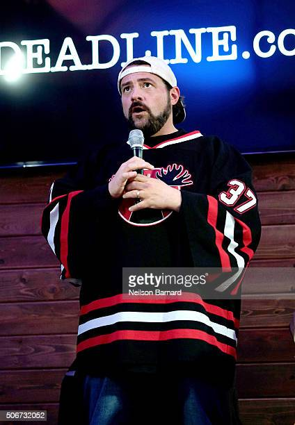"""Director Kevin Smith discusses """"Yoga Hosers"""" at the Deadlinecom panel at The Samsung Studio during The Sundance Festival 2016 on January 25 2016 in..."""
