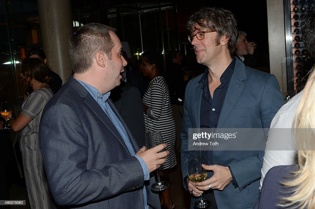 Director Kief Davidson (L), and Damon Smith attend the Convergence/Toyota Party during the 53rd New York Film Festival on September 27, 2015 in New York City.