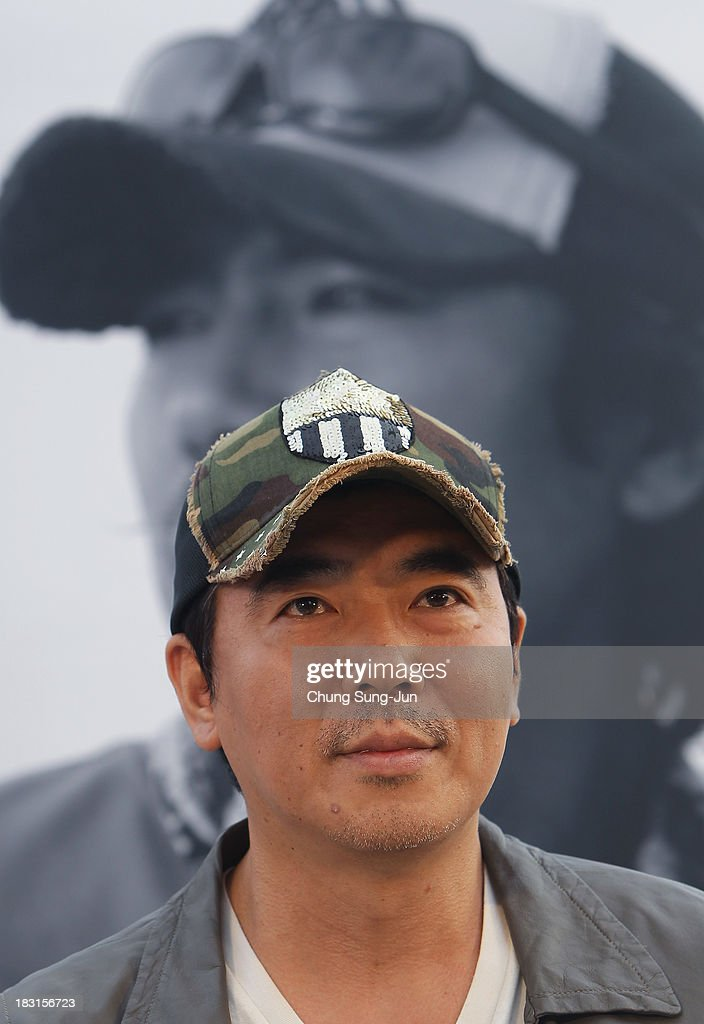 Director Kim Jee-Hoon attends the Open Talk - Action Battle of the Directors- at Haeundae beach during the 18th Busan International Film Festival on October 5, 2013 in Busan, South Korea.