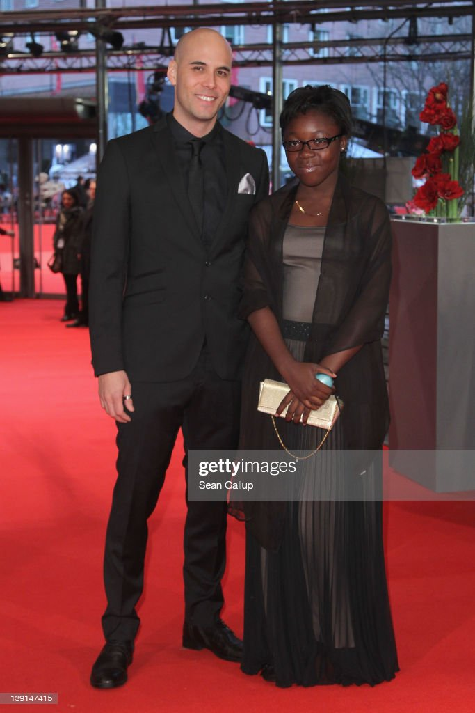 Director Kim Nguyen and actress Rachel Mwanza attend the 'Rebelle' Premiere during day nine of the 62nd Berlin International Film Festival at the...