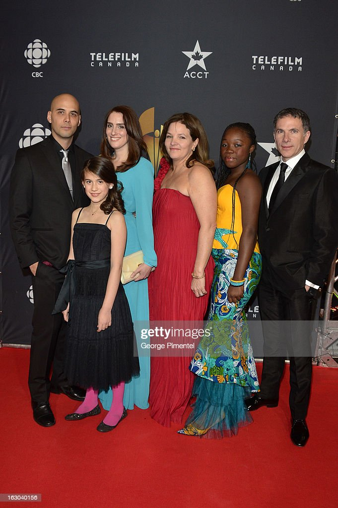 Director Kim Nguyen and the cast from 'Rebelle' arrive at the Canadian Screen Awards at the Sony Centre for the Performing Arts on March 3 2013 in...