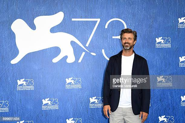 Director Kim Rossi Stuart attends a photocall for 'Tommaso' during the 73rd Venice Film Festival at Palazzo del Casino on September 6 2016 in Venice...