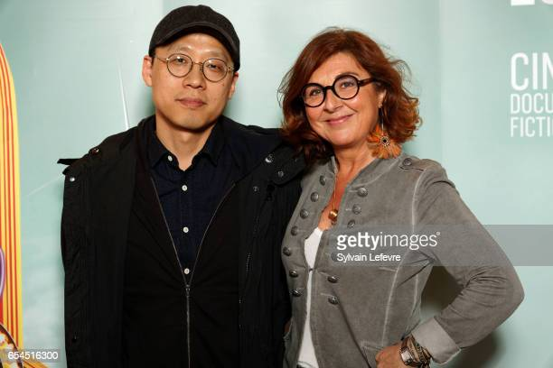 Director Kim Seonghun and Nathalie Corre attend day five photocall of Valenciennes Cinema Festival on March 17 2017 in Valenciennes France