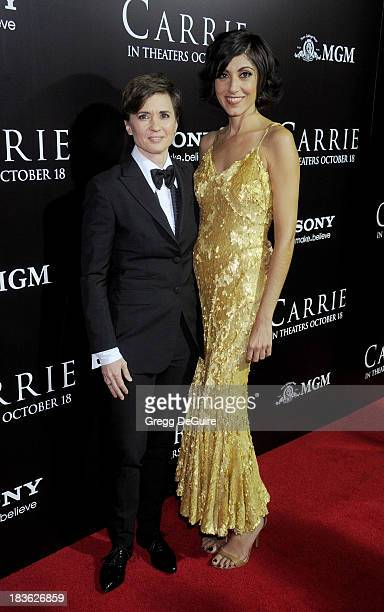 Director Kimberly Peirce and Evren Savci arrive at the Los Angeles premiere of 'Carrie' at ArcLight Hollywood on October 7 2013 in Hollywood...
