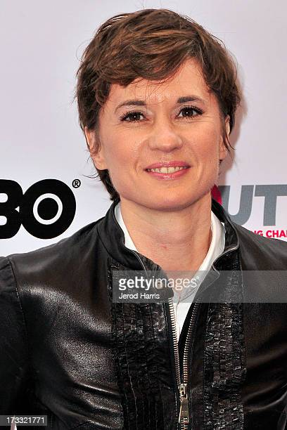 Director Kimberly Peirce arrives at the Outfest Opening Night Gala of 'COG' at Orpheum Theatre on July 11 2013 in Los Angeles California