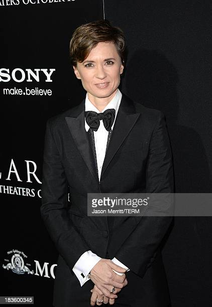 Director Kimberly Peirce arrives at the premiere of MetroGoldwynMayer Pictures Screen Gems' 'Carrie' at ArcLight Cinemas on October 7 2013 in...