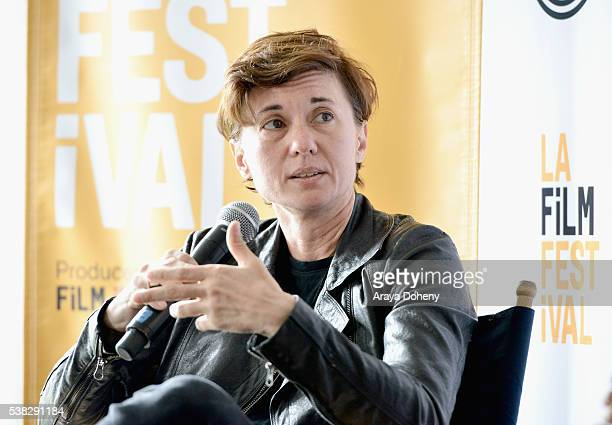 Director Kimberly Peirce speaks onstage at Coffee Talks Directors during the 2016 Los Angeles Film Festival at The Culver Hotel on June 5 2016 in...