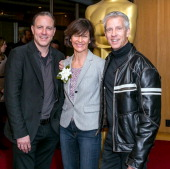 Director Kirk DeMicco producer Kristine Belson and animator Chris Sanders attend the 86th Annual Academy Awards Oscar Week Celebrates Animated...