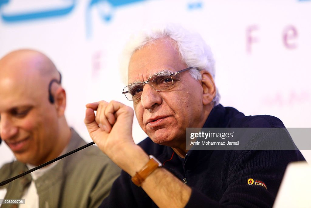 Director Kiumars Pourahmad attends a press conference as part of the 34rd Fajr International Film Festival on February 7, 2016 in Tehran, Iran.