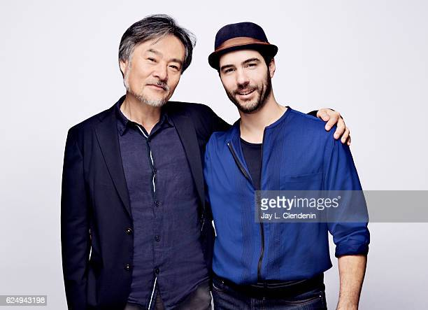 Director Kiyoshi Kurosawa and actor Tahar Rahim from the film Daguerrotype pose for a portraits at the Toronto International Film Festival for Los...