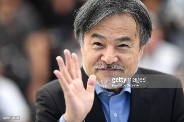Director Kiyoshi Kurosawa attends the 'Before We Vanish ' photocall during the 70th annual Cannes Film Festival at Palais des Festivals on May 21...