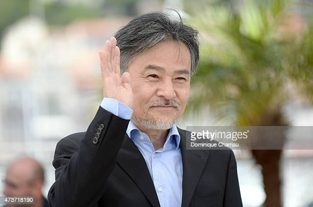 Director Kiyoshi Kurosawa attends the 'Kishibe No Tabi' Photocall during the 68th annual Cannes Film Festival on May 17 2015 in Cannes France