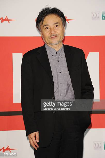 Director Kiyoshi Kurosawa attends the 'Seventh Code' Photocall during the 8th Rome Film Festival at the Auditorium Parco Della Musica on November 13...