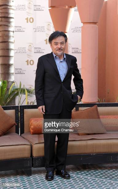 Director Kiyoshi Kurosawa pose for a Photocall during the 10th Marrakech Film Festival on December 8 2010 in Marrakech Morocco