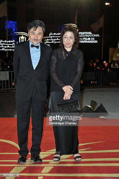 Director Kiyoshi Kurosawaand his Wife attens the 'Poetry' premiere during the 10th Marrakech Film Festival on December 9 2010 in Marrakech Morocco