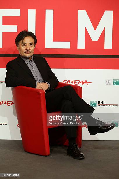Director Kurosawa Kiyoshi attends the 'Seventh Code' Photocall during the 8th Rome Film Festival at the Auditorium Parco Della Musica on November 13...