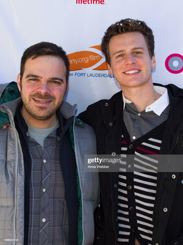 Director Kyle Patrick Alvarez and Kyle Groff arrive to Outfest Queer Brunch - 2013 Park City on January 20, 2013 in Park City, Utah.