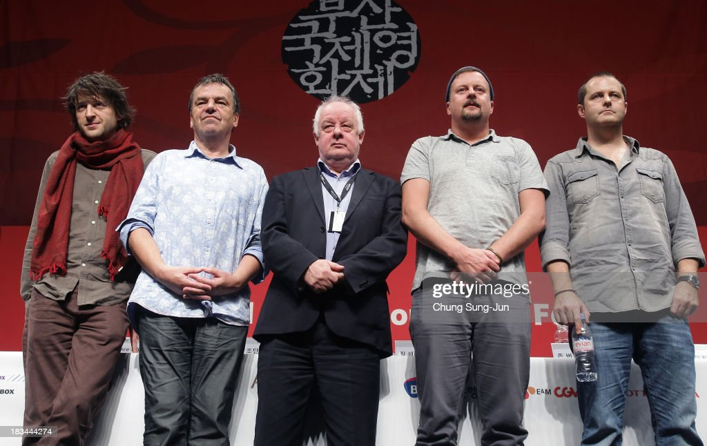 Director Lance Daly, <a gi-track='captionPersonalityLinkClicked' href=/galleries/search?phrase=Neil+Jordan&family=editorial&specificpeople=224046 ng-click='$event.stopPropagation()'>Neil Jordan</a>, <a gi-track='captionPersonalityLinkClicked' href=/galleries/search?phrase=Jim+Sheridan&family=editorial&specificpeople=211526 ng-click='$event.stopPropagation()'>Jim Sheridan</a>, <a gi-track='captionPersonalityLinkClicked' href=/galleries/search?phrase=John+Butler&family=editorial&specificpeople=216419 ng-click='$event.stopPropagation()'>John Butler</a> and Brendan Muldowney attend the 'Irish Directors In Busan' at the Shinsegae Centumcity cultural hall during the 18th Busan International Film Festival (BIFF) on October 6, 2013 in Busan, South Korea. The biggest film festival in Asia showcases 299 films from 70 countries and runs from October 3-12.