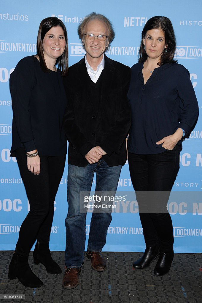 Director Lara Stolman, composer Mark Suozzo and editor Ann Collins attend the New York premiere of 'Swim Team' at DOC NYC on November 17, 2016 in New York City.