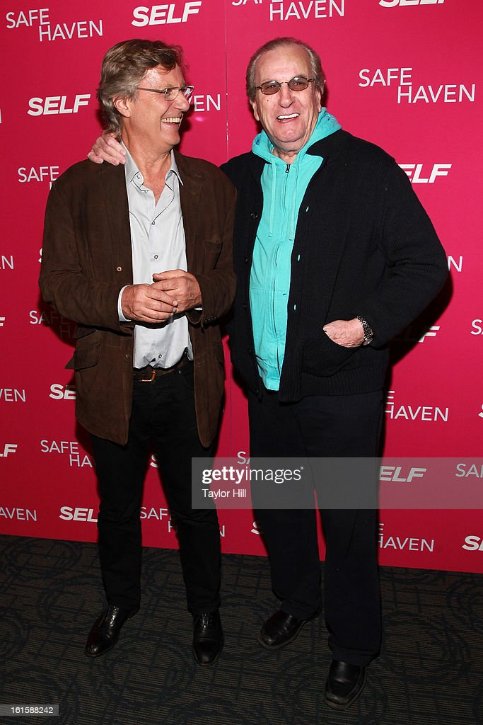 Director Lasse Hallstrom and actor <a gi-track='captionPersonalityLinkClicked' href=/galleries/search?phrase=Danny+Aiello&family=editorial&specificpeople=213062 ng-click='$event.stopPropagation()'>Danny Aiello</a> attend a New York screening of 'Safe Haven' at Landmark Sunshine Cinema on February 11, 2013 in New York City.