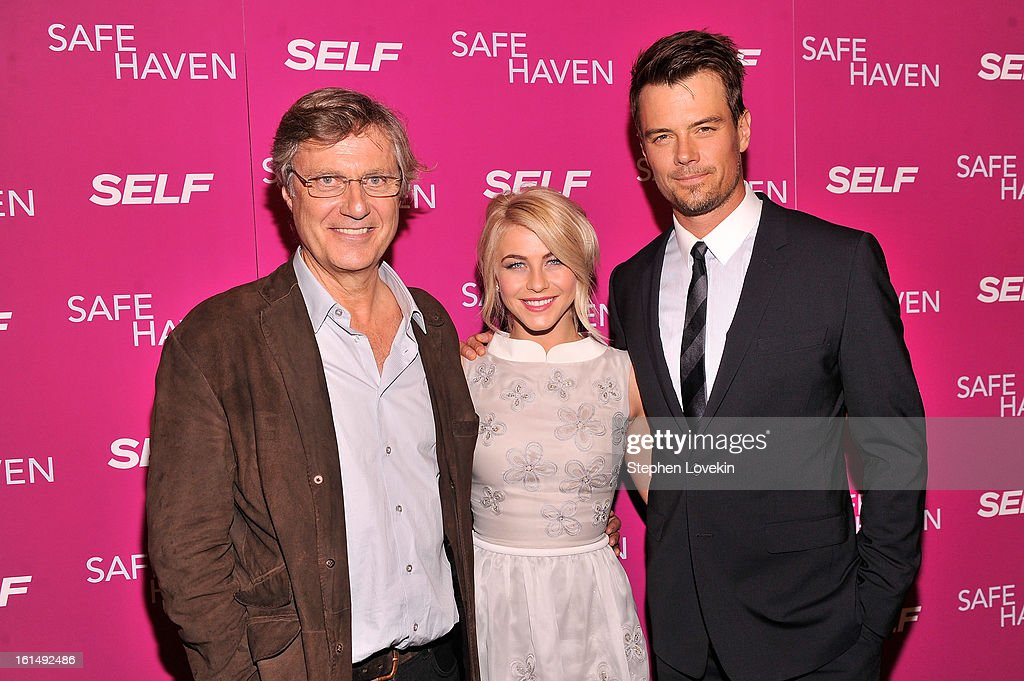 Director <a gi-track='captionPersonalityLinkClicked' href=/galleries/search?phrase=Lasse+Hallstrom&family=editorial&specificpeople=768265 ng-click='$event.stopPropagation()'>Lasse Hallstrom</a> and actors <a gi-track='captionPersonalityLinkClicked' href=/galleries/search?phrase=Julianne+Hough&family=editorial&specificpeople=4237560 ng-click='$event.stopPropagation()'>Julianne Hough</a> and <a gi-track='captionPersonalityLinkClicked' href=/galleries/search?phrase=Josh+Duhamel&family=editorial&specificpeople=208740 ng-click='$event.stopPropagation()'>Josh Duhamel</a> attend SELF Magazine and Relativity Media's special New York screening of 'Safe Haven' at Landmark Theatres Sunshine Cinema on February 11, 2013 in New York City.