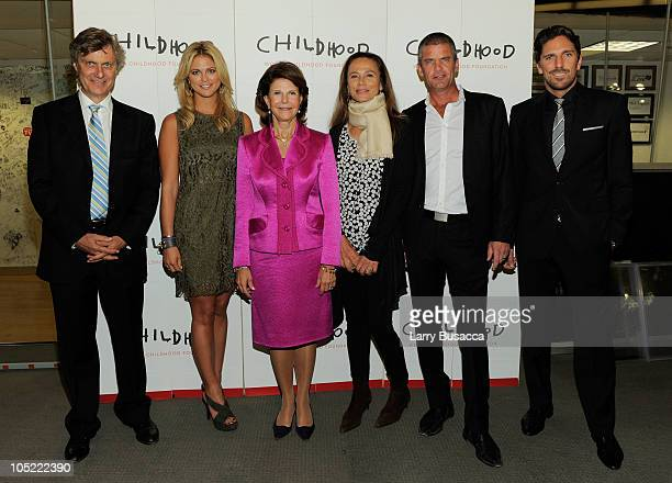 Director Lasse Hallstrom Her Royal Highness Princess Madeleine of Sweden Her Majesty Queen Silvia of Sweden Actress Lena Olin Professional Golfer...