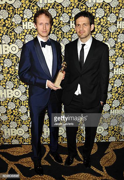 Director Laszlo Nemes and actor Geza Rohrig attend HBO's post 2016 Golden Globe Awards party at Circa 55 Restaurant on January 10 2016 in Los Angeles...