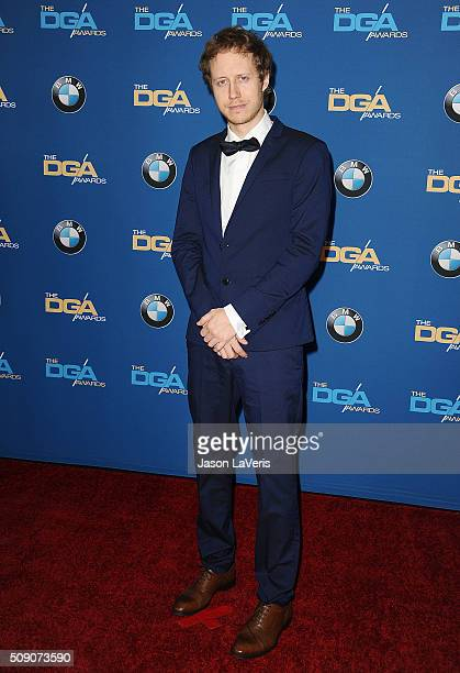 Director Laszlo Nemes attends the 68th annual Directors Guild of America Awards at the Hyatt Regency Century Plaza on February 6 2016 in Los Angeles...