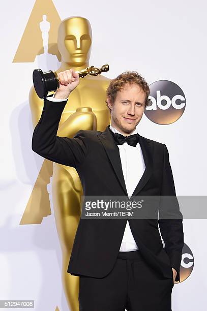 Director Laszlo Nemes winner of Best Foreign Language Film award for 'Son of Saul' poses in the press room during the 88th Annual Academy Awards at...