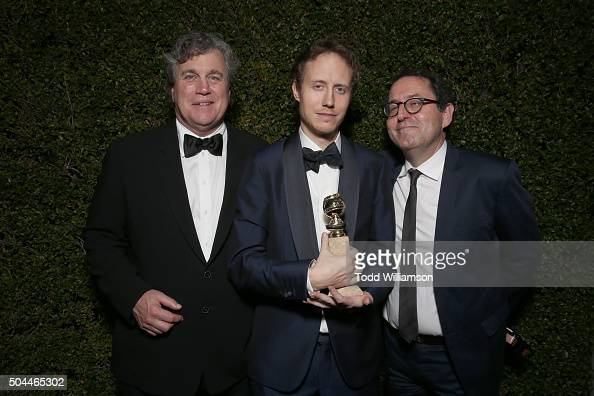Director Laszlo Nemes winner of Best Foreign Language Film for 'Son of Saul' with Sony Pictures Classics CoPresidents Tom Bernard and Michael Barker...