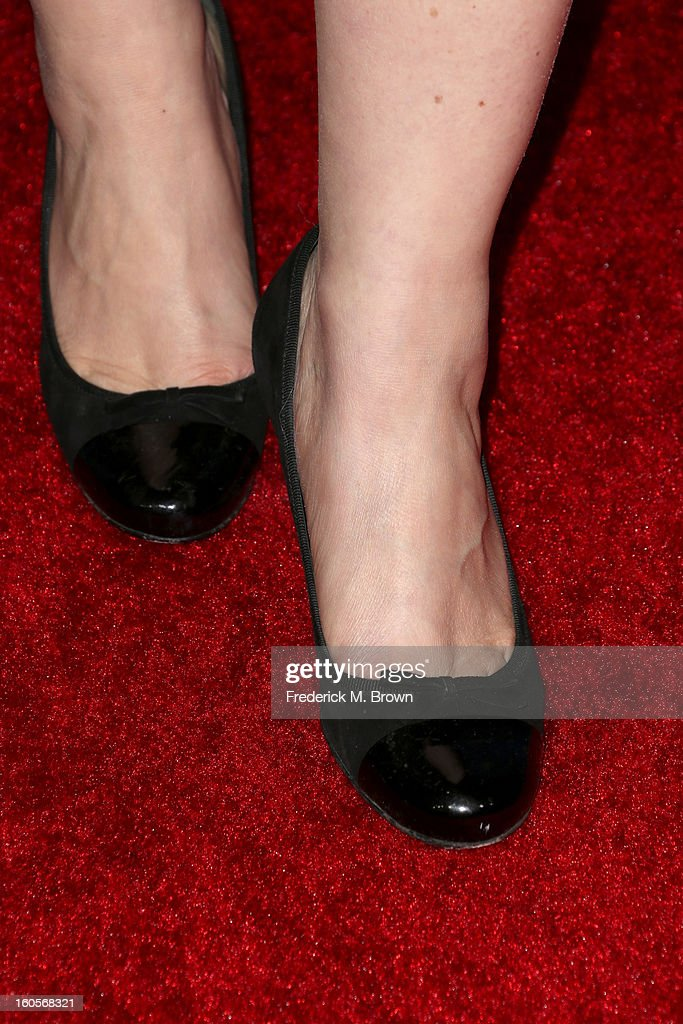Director Lauren Greenfield (shoe detail) attends the 65th Annual Directors Guild Of America Awards at Ray Dolby Ballroom at Hollywood & Highland on February 2, 2013 in Los Angeles, California.