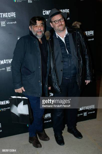 Director Laurent Heynemann and Director of the movie Xavier Beauvois attend the 'Les Gardiennes' Paris Premiere at la cinematheque on December 1 2017...
