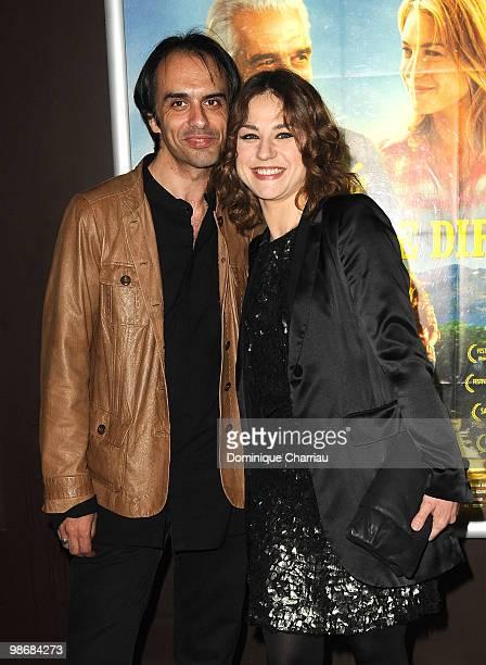 Director Laurent VinasRaymond and actress Emilie Dequenne attend the 'J'ai Oublie de te Dire' premiere at Le Cinema des Cineastes on April 26 2010 in...